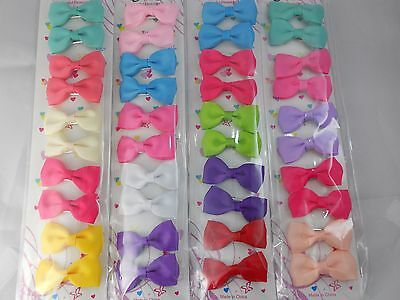 "40 pcs Hair clips Bow 2"" the color Pick up ."