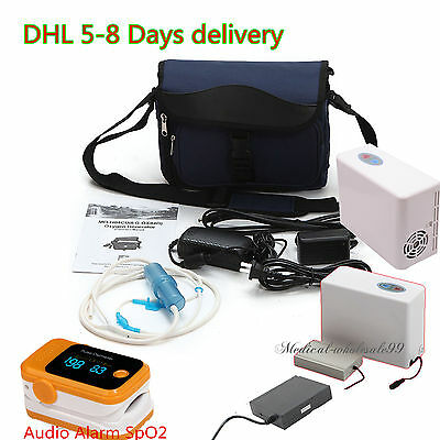 Portable Oxygen Concentrator Generator+2 battery for Carry/Home/Travel++Oximeter