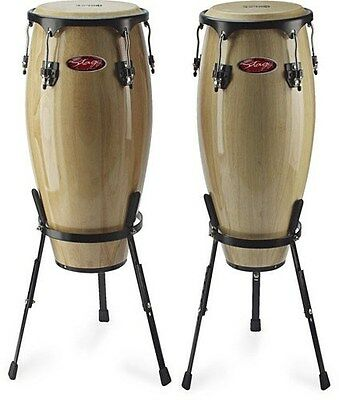 "Stagg 10/11"" Congas With Stand, Natural, CWM1NA - FREE P&P"