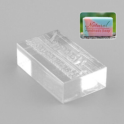 Acrylic Natural Design Handmade Clear Soap Stamping Stamp Seal Mold Craft DIY