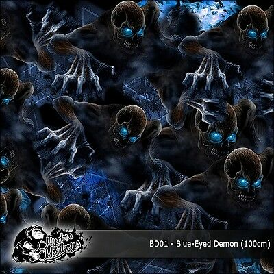 1m of Blue-Eyed Demon Film (BD01) 100cm hydrographics water transfer film