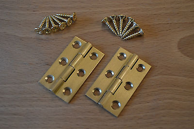 SOLID BRASS BUTT HINGES (2 hinges with screws) - *Special Offer*    PKR SBH15