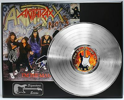 Anthrax Platinum Lp Limited Edition Reproduction Signature Record Display