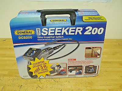 "General Seeker DCS200 Video Borescope, 39"" Probe, 2.4"" LCD Display  