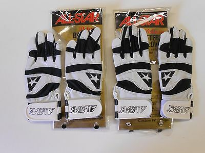 NOS Vtg Lot 2 Pair All Star YOUTH Batting Gloves Small Orig Packages!