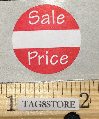 "100 LOT Self-Adhesive Sale Price Round Retail Labels 1"" Sticker Tags Label Sales"
