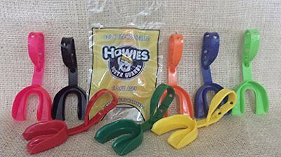NEW HOWIES Neon Yellow professional ice hockey mouth guard fits all ages boil &