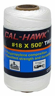 Cal Hawk Tools #18 x 500' Twisted Mason Line - White