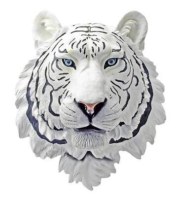 DWK Corporation White Tiger Head Hanging Statue