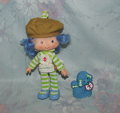 Vtg Strawberry Shortcake Doll Crepe Suzette, Éclair Poodle International Friends
