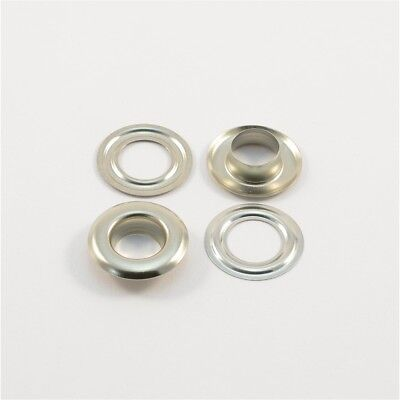 50 Pieces EYELETS Ø17mm,Stainless brass silver,for Plans,Curtains,Leather,