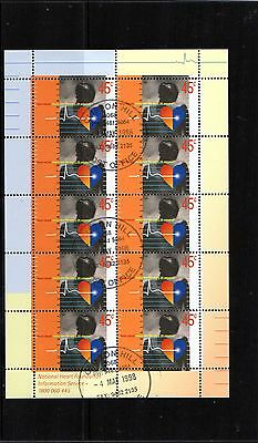 1998 Heart Health Sheetlet Of 10 Stamps CTO Fine Used