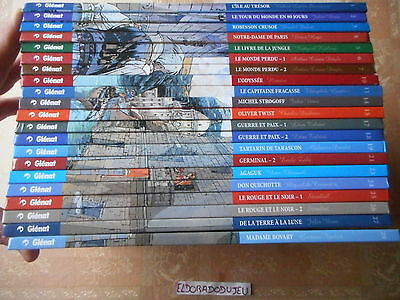 Eldoradodujeu Lot 21Tome Incontournables Litterature En Bd 1 Au 29 Glenat Be/tbe