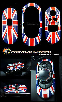 Union Jack Centre+Window Control Panel Cover for MK3 MINI Cooper/S/ONE F56 Hatch