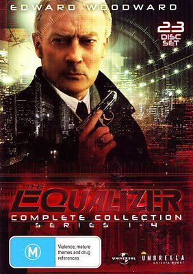 The Equalizer - Complete Collection Series 1-4 NEW PAL Cult 23-DVD Set Woodward