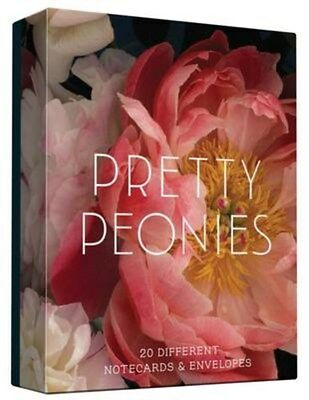 Pretty Peonies: 20 Different Notecards & Envelopes 9781452145051, Cards, NEW