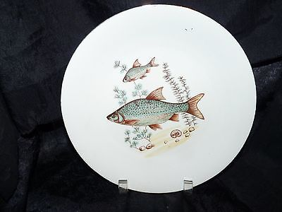 FISH PLATES POLAND 2 PLATES C. MIELOW Luncheon Size 9 1/4""