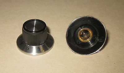 "Eagle Plastic Devices 1-10 Scale Dial Knob, Metal skirt, 1/4"" Shaft 450-1170-GRX"