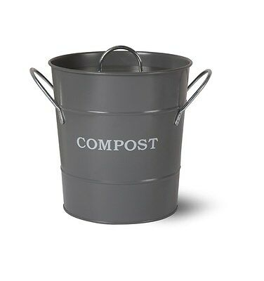 Garden Trading Compost Bucket - 3.5 Litre - Charcoal