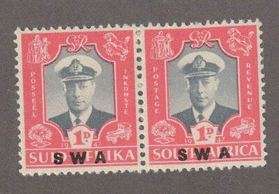 South West Africa 156 - Royal Visit Issues. MVLH. OG. Pair  #02 SWA156