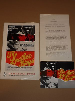 """""""The Leather Boys"""" (Rita Tushingham) 1964 UK Campaign Book + Synopsis"""