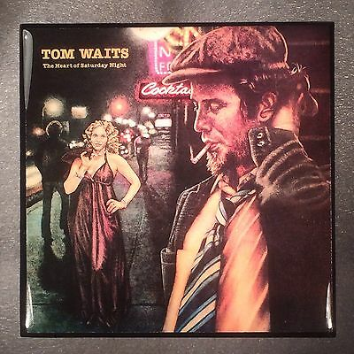 TOM WAITS The Heart Of Saturday Night Record Cover Art Ceramic Tile Coaster