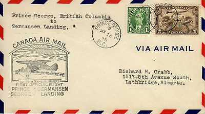 CANADA 1ers vols first flights airmail 120