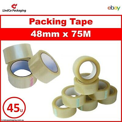 36x Roll Clear Packing Tapes Packaging Sticky Box Sealing Tape 45mm x 50M 45u