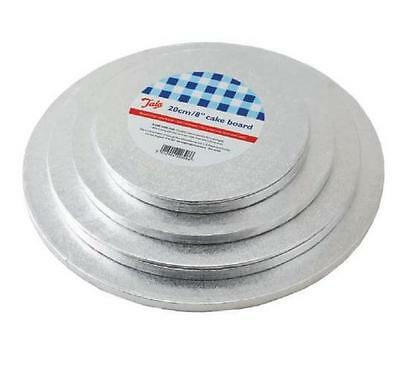 New 4 pcs Cake Boards Round Silver Rose Decoration Wedding Board Stand Baking