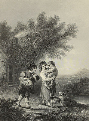 Going to the Labour. Stahlstich von W. Hulland nach Ibbertson, 1860