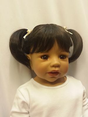 """NWT Monique Mei Dark Brown Doll Wig 16-17"""" fits Masterpiece Doll(WIG ONLY)"""