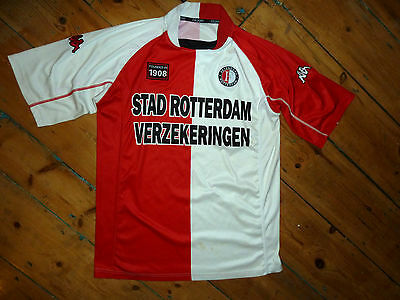 XL + Feyenoord Football Shirt DUTCH Soccer JERSEY + HOME RED MAILLOT MAGLlA
