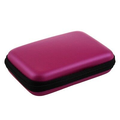 "Portable Hard Disk Drive Shockproof Zipper Cover Case 2.5"" HDD Bag rose Red TS"