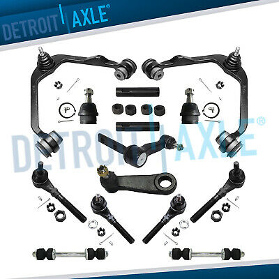 16pc Front Suspension Upper Control Arms Tie Rod Ball Joints Pitman Arm 4x4 ONLY