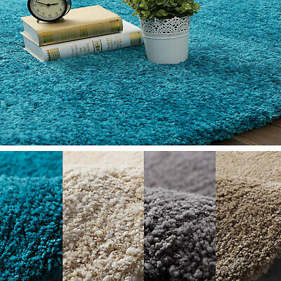 Shag Shaggy Floor Area Rug Blue Beige Grey Camel Luxurious Large Mat Carpet Soft