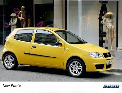 Fiat Punto Sporting 2003 Original UK Market Colour Press Photograph