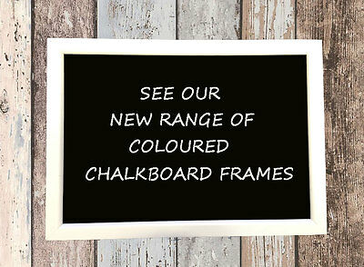 White Framed Chalkboard Shabby Chic Boutique Look Ideal Blackboard Sign