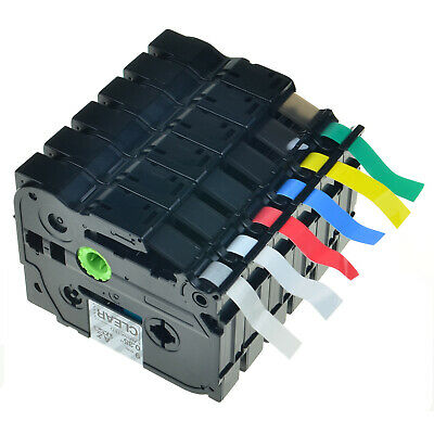6 Multiple TZ Tze 121 221 421 521 621 721 Tape For Brother P touch Label Maker