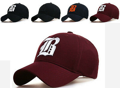Baseball cap new cotton Mens  Women  hat letter B unisex Black hats casual hat