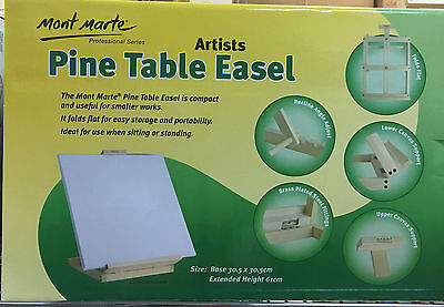 Mont Marte Folds Away Pine Table Display Easel School/Function Artist Art Supply