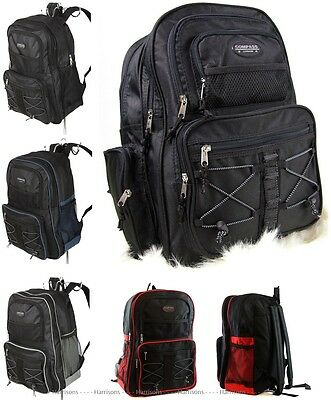 Large Durable Backpack 35 Litre Travel Cabin Bag School A4 Work Gym Sports 17""
