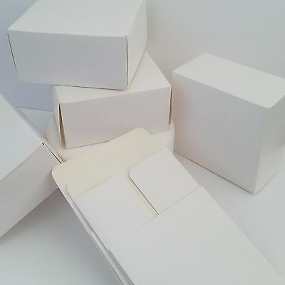 "Pack Of 6 WHITE CAKE  BOXES 6"" SQUARE Food Treat Sweets Gift Festive Cookies"