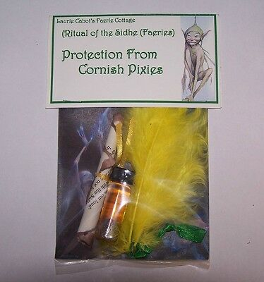 Protection From Cornish Pixies Spell Kit By Laurie Cabot ~ Witchcraft
