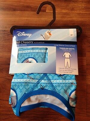 NEW Toddler Boy Girl Frozen Olaf Chill Chasers by Cuddl Duds 2T/3T 4T 5T