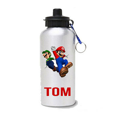 super mario Personalised Kids/Drinks/Sports Childrens School Lunch Water Bottle