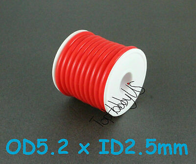 1Roll (16 ft) Red Silicone RC Nitro Fuel Line Tubing D5.2xø2.5, US 005-00606A-F