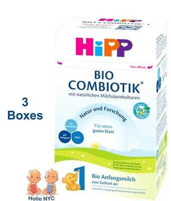 HiPP BIO Combiotic Stage 1 Organic Formula FREE EXPEDITED SHIPPING 3 BOXES 01/20