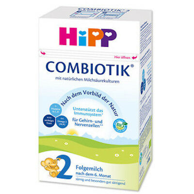 HiPP BIO Combiotic Stage 2 Organic Formula  FREE SHIPPING 4 BOXES 02/2019