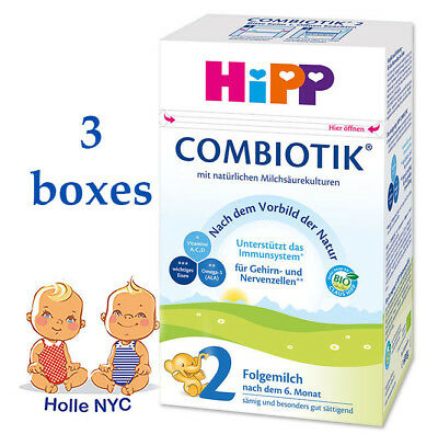 HiPP Stage 2 Bio Combiotic Infant Formula 3 Boxes 600g Free Shipping
