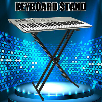 PRO Height Adjustable Keyboard Stand Music Piano Double Braced X-style Folding